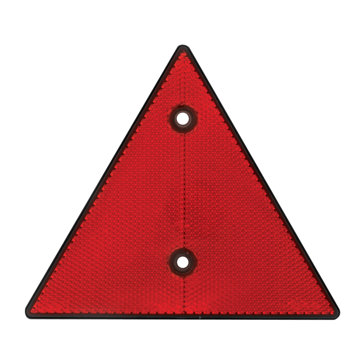 "99555 Red 6"" Triangle Warning Reflector w/ 2 Mounting Holes"