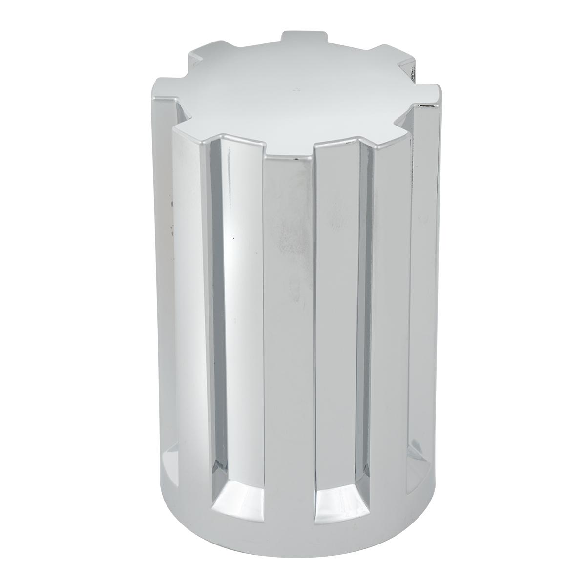 Gear Style Chrome Plastic 33mm Lug Nut Cover
