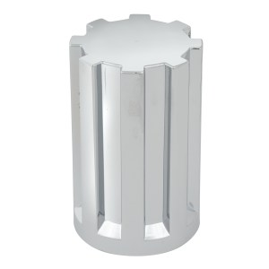 Gear Chrome Plastic 33mm Lug Nut Cover