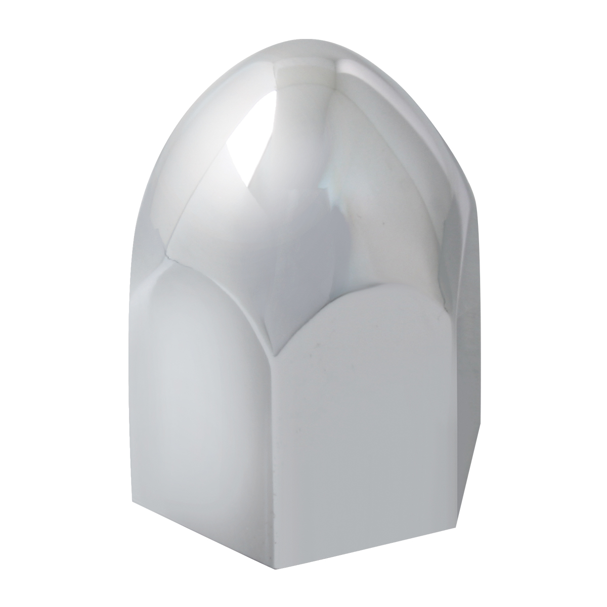 Bullet Shape Push-On Lug Nut Cover without Flange