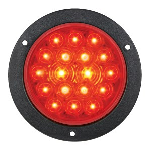 "75912 Red/Red 4"" Fleet LED Light with Black Flange Mount"