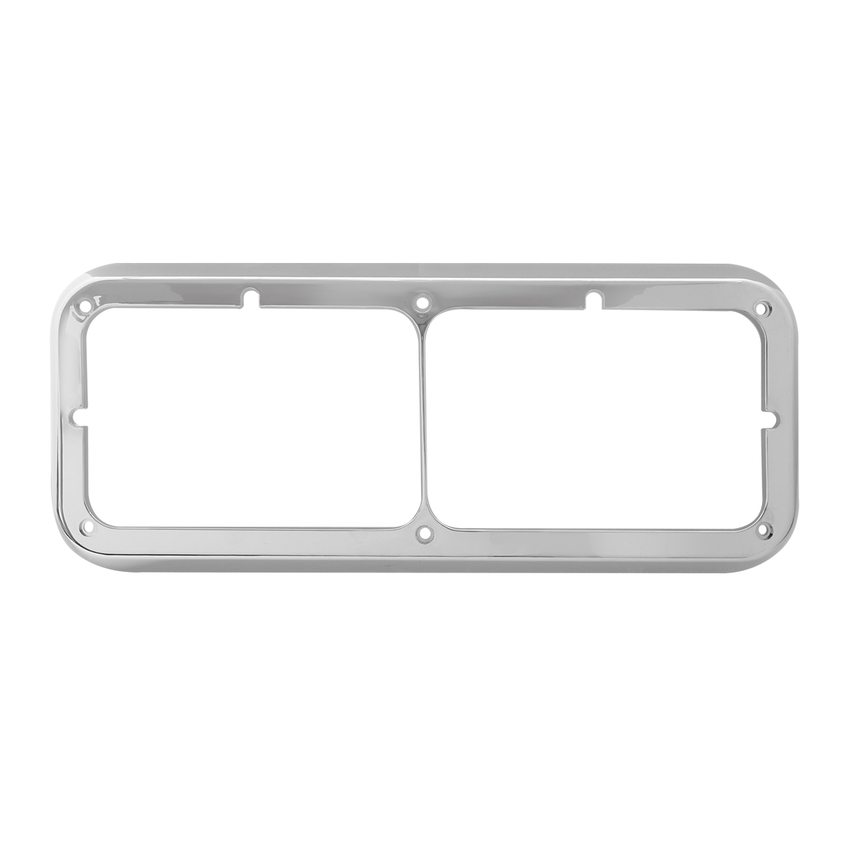 87591 Dual Rectangular Headlight Bezel for Peterbilt, Kenworth & Freightliner