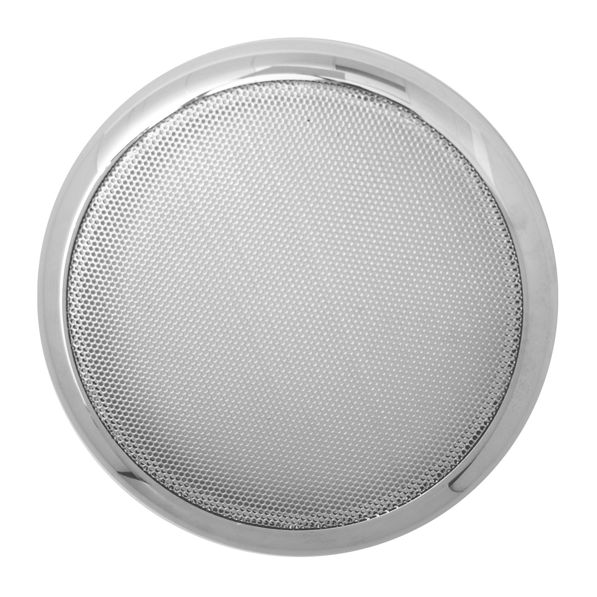 52027 Round Speaker Cover w/ Chrome Screen for Peterbilt