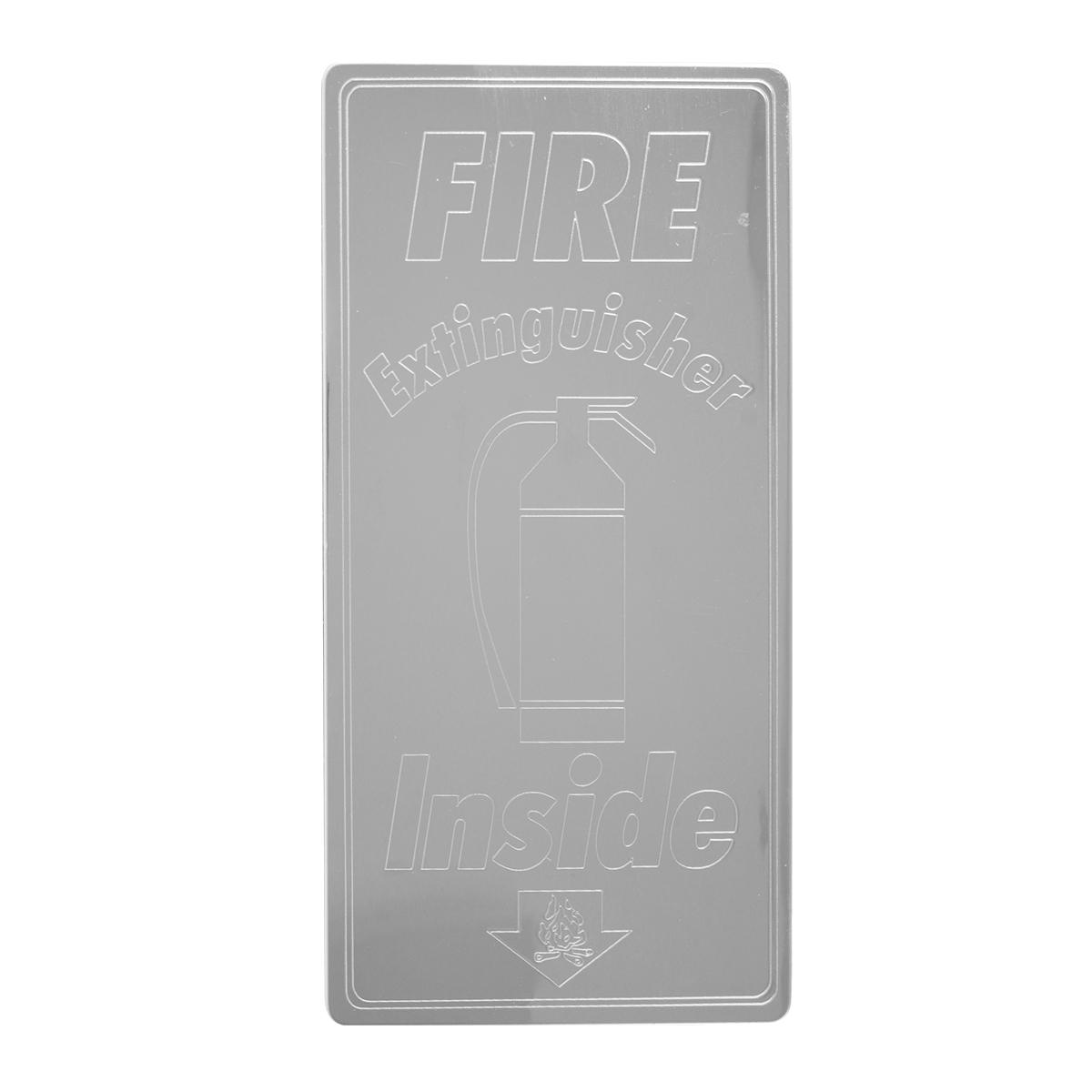 68627 Fire Extinguisher Inside Script Plate for Peterbilt 379