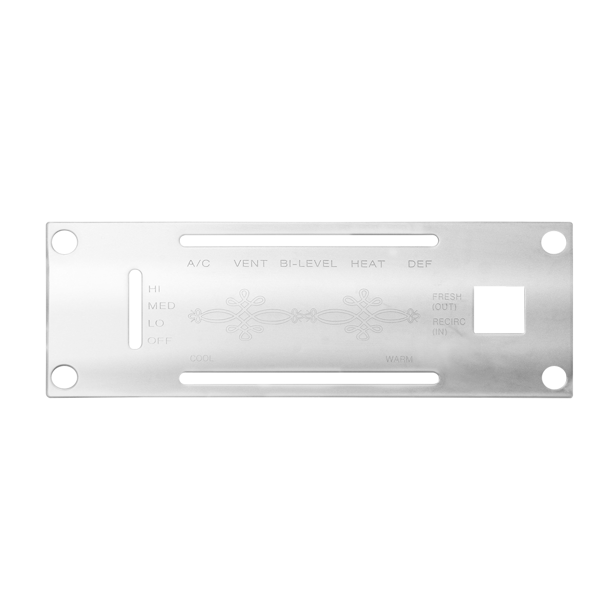 68253 Stainless Steel A/C Control Panel Plate for Kenworth