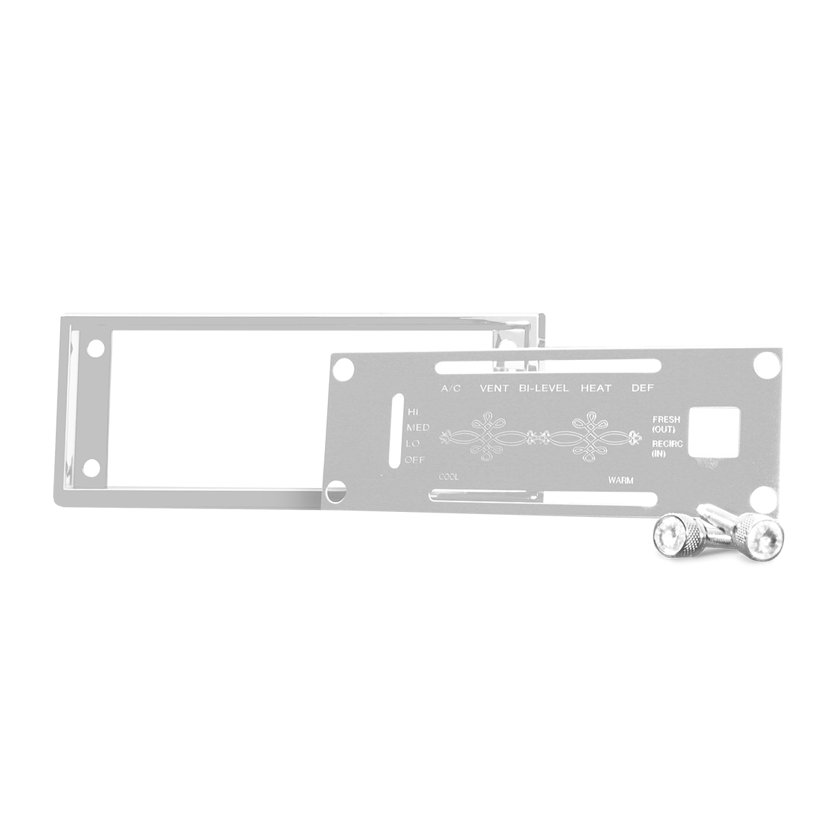 68254 A/C Control Plate Set with Crystal Dash Screw for Kenworth W
