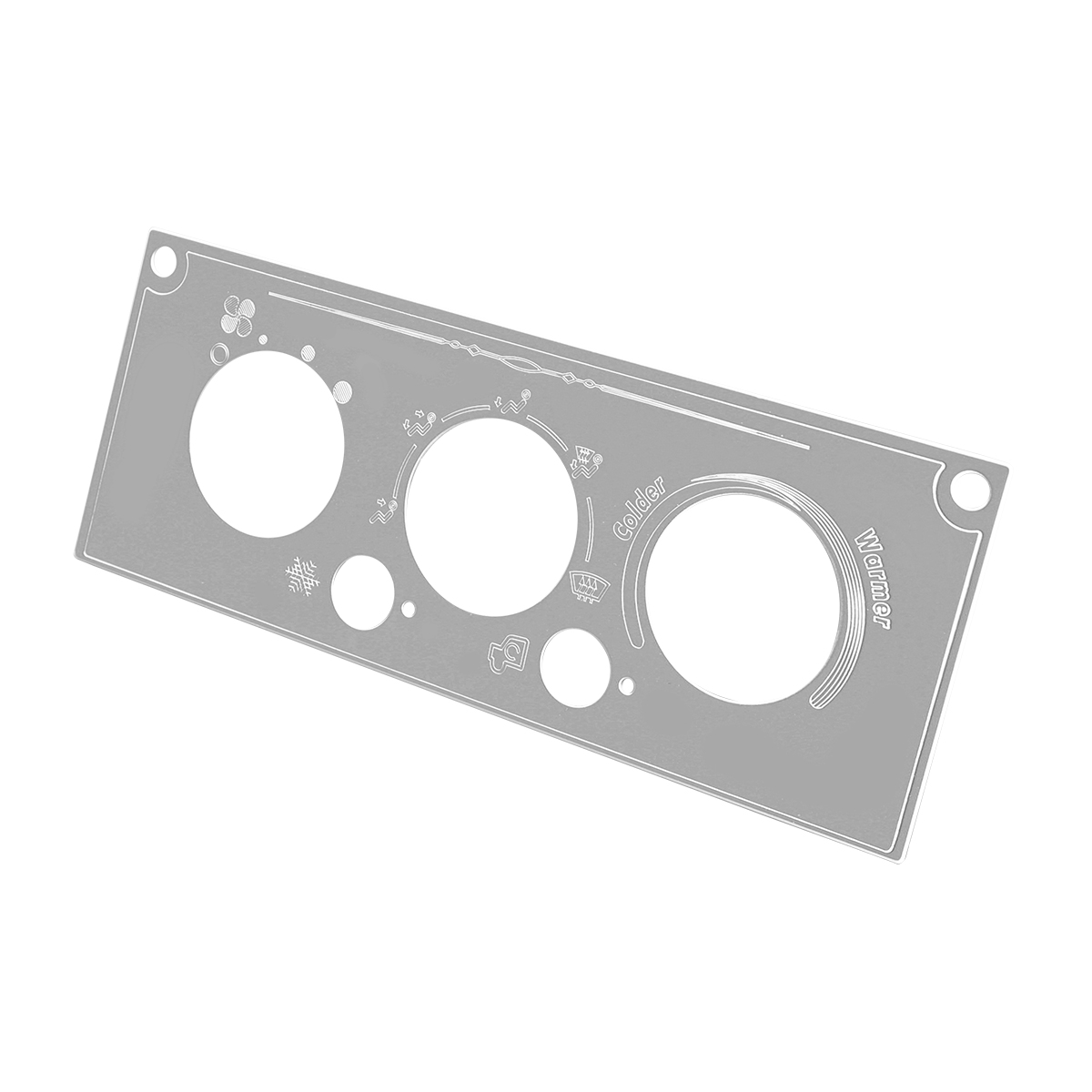68733 Stainless Steel A/C Control Plate for Kenworth W&T