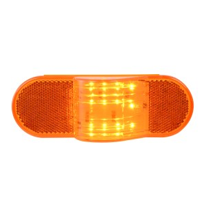 Oval Side Marker & Turn 12 LED Light w/ Reflector