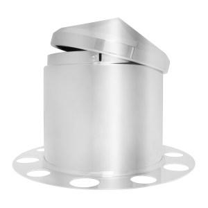 3 Piece Rear Axle Cover Set w/ Cone Hub Cap