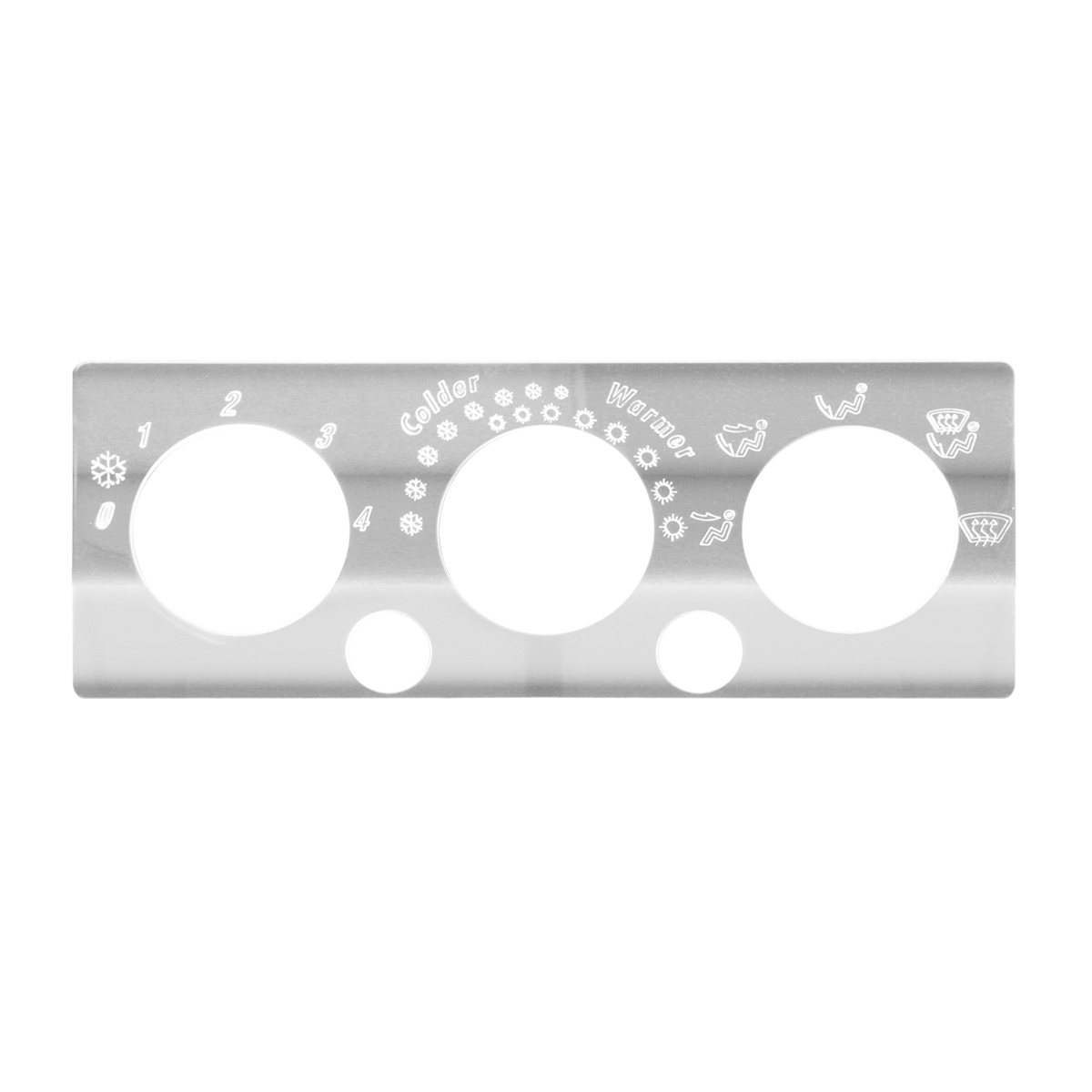 68326 Stainless Steel A/C & Heater Control Panel for International