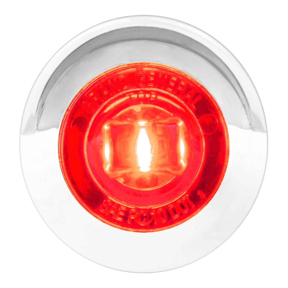 Clear Plastic Rim with Visor for Cab 1 Pack Grand General 93709 Marker Light