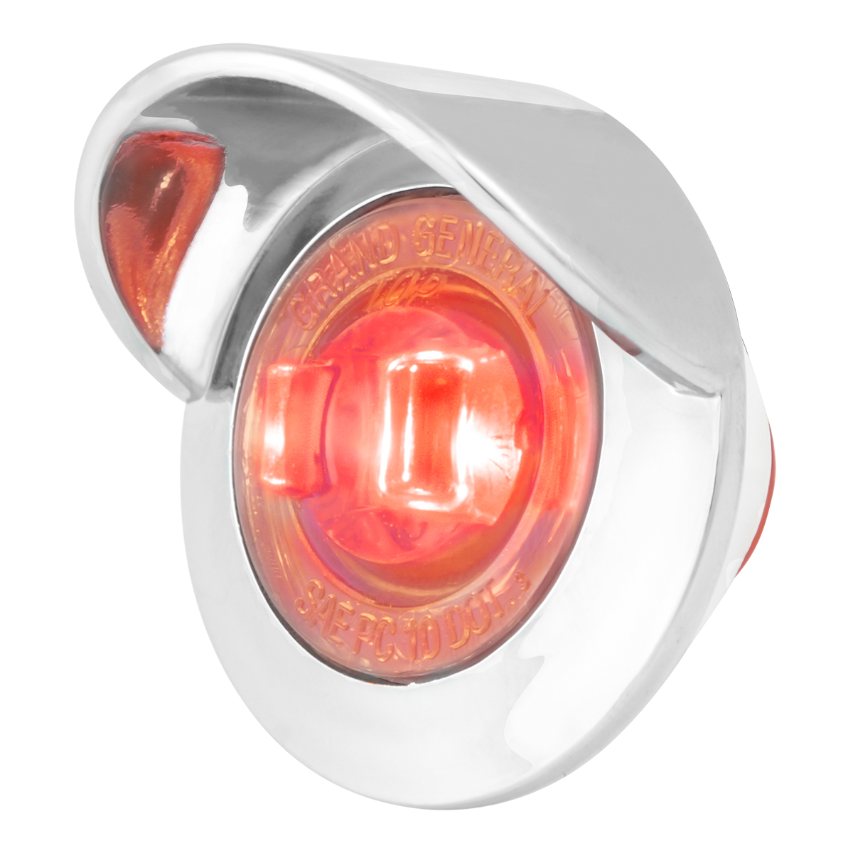 "75253 1"" Dia. Mini Push/Screw-in Wide Angle LED Marker Light w/ Chrome Bezel & Visor"