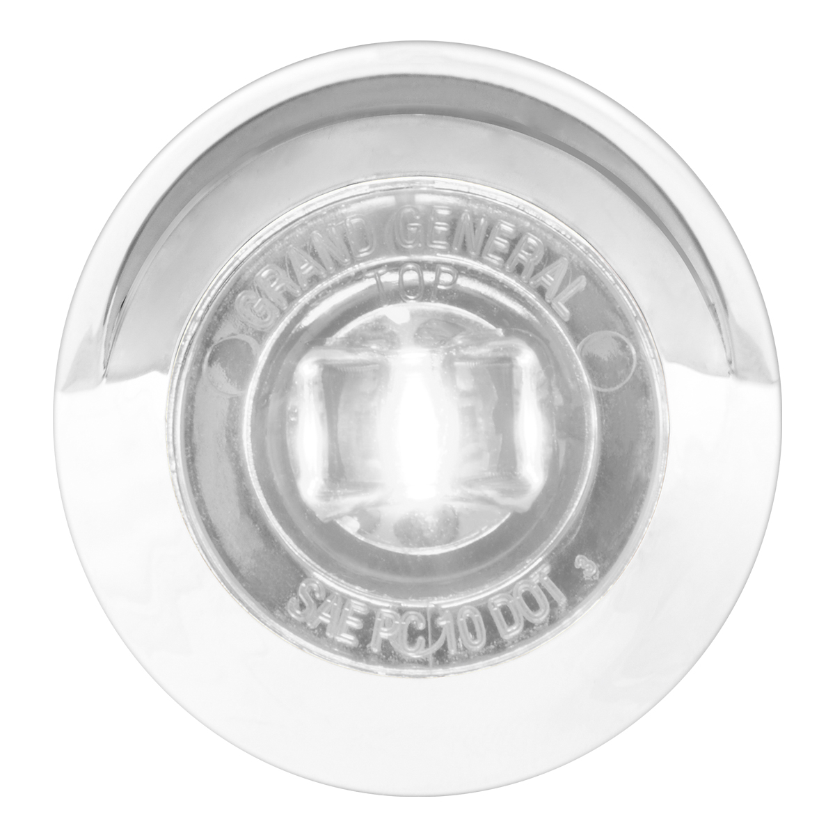 "75254 1"" Dia. Mini Push/Screw-in Wide Angle LED Marker Light w/ Chrome Bezel & Visor"