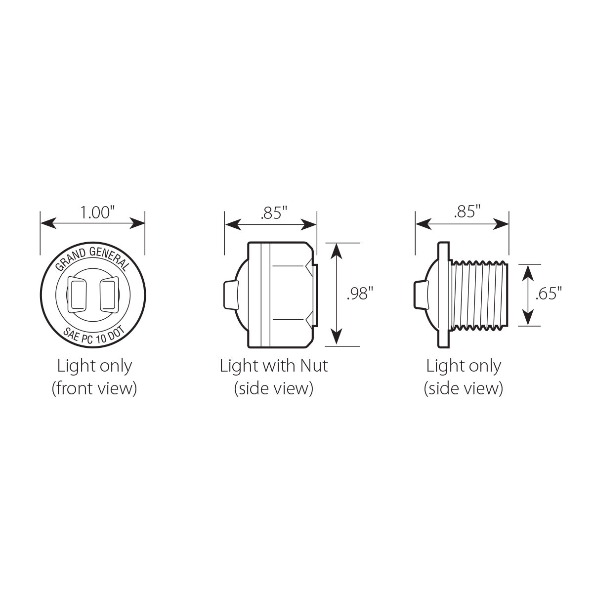 "1"" Dual Function Mini Push/Screw-in Wide Angle LED Light"