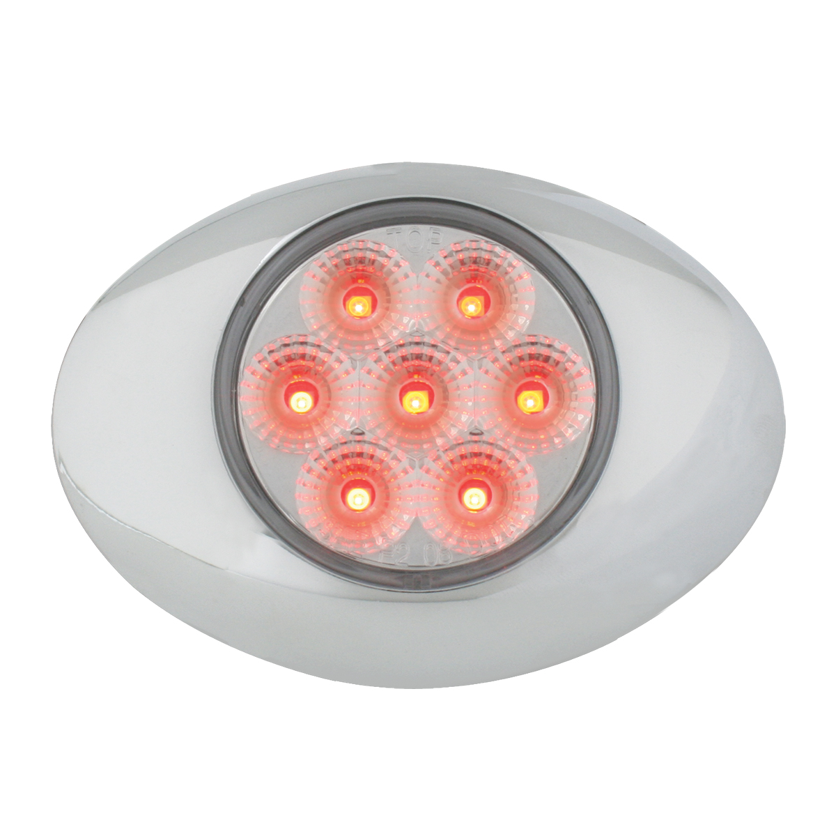 76198 Small Low Profile Surface Mount Spyder LED Marker & Turn Light w/ Chrome Bezel