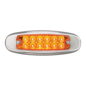 Ultra Thin Dual Function Spyder LED Light w/ Stainless Steel Bezel