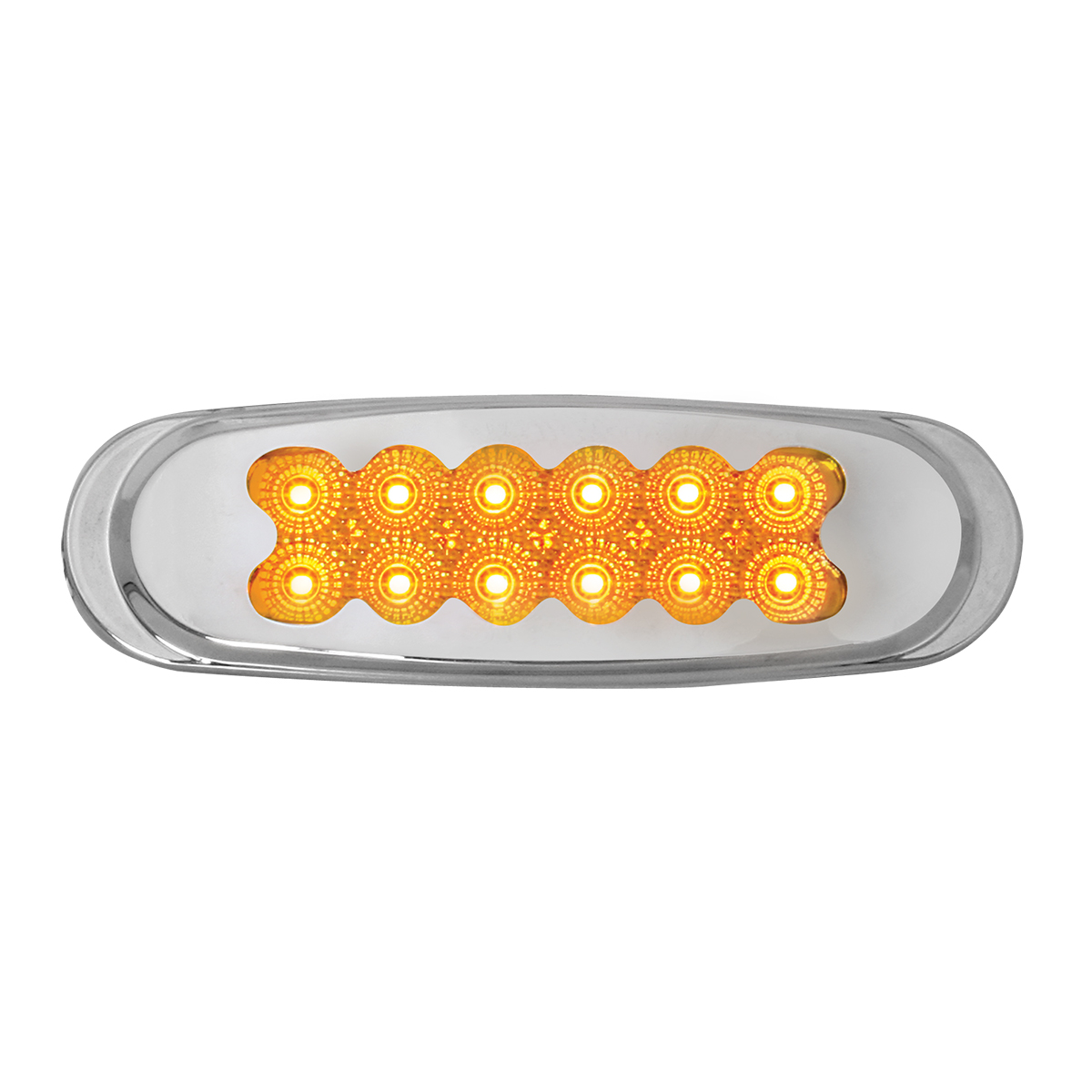 76700 Ultra Thin Spyder LED Marker Light w/ Chrome Plastic Matrix Bezel