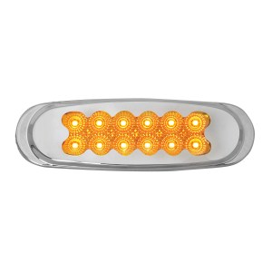 Ultra Thin Spyder LED Marker Light w/ Chrome Plastic Matrix Bezel