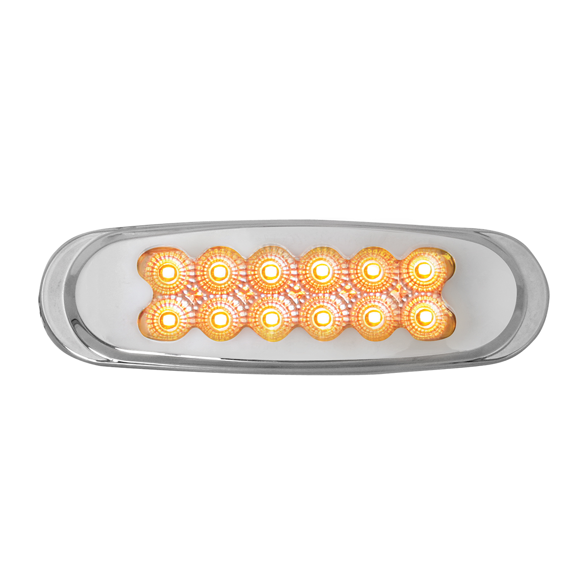 76701 Ultra Thin Spyder LED Marker Light w/ Chrome Plastic Matrix Bezel