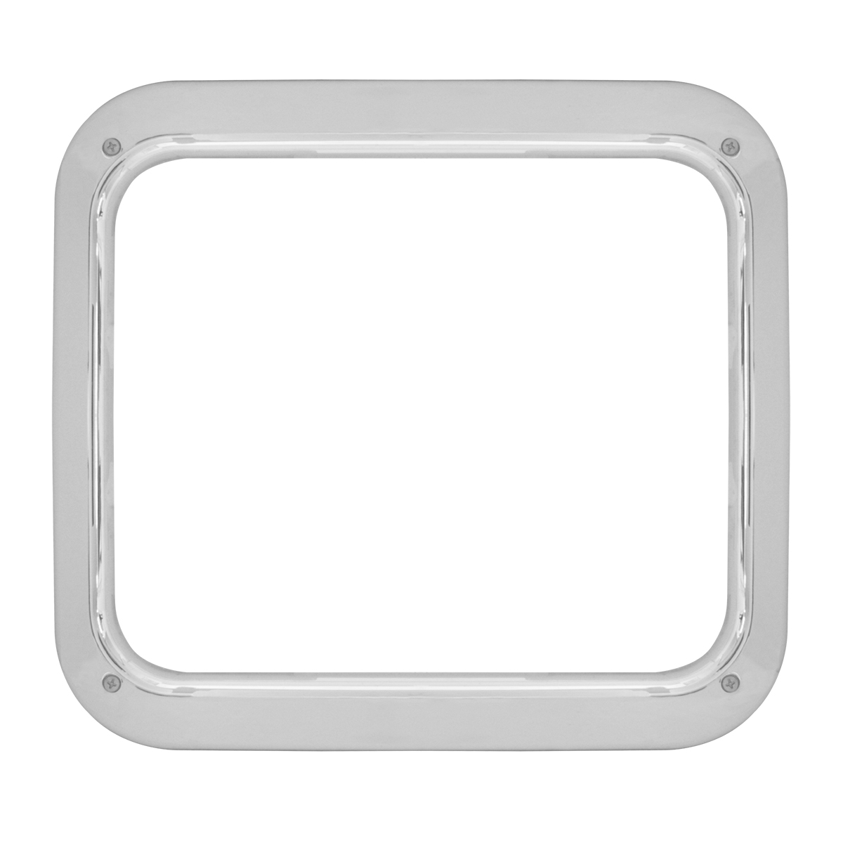 Grand General 68632 Plastic Chrome Lighting Control Panel Cover with 4-Switch Opening for Kenworth