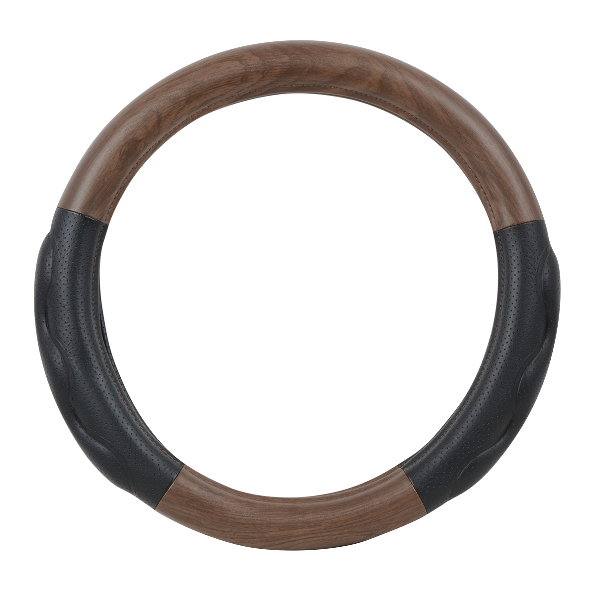 "54057 Heavy Duty 18"" Steering Wheel Cover in Deluxe+ Matte Natural Wood"