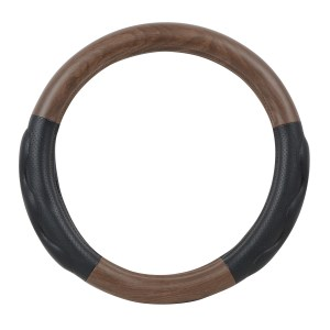 Heavy Duty 18″ Steering Wheel Cover in Deluxe+ Matte Natural Wood