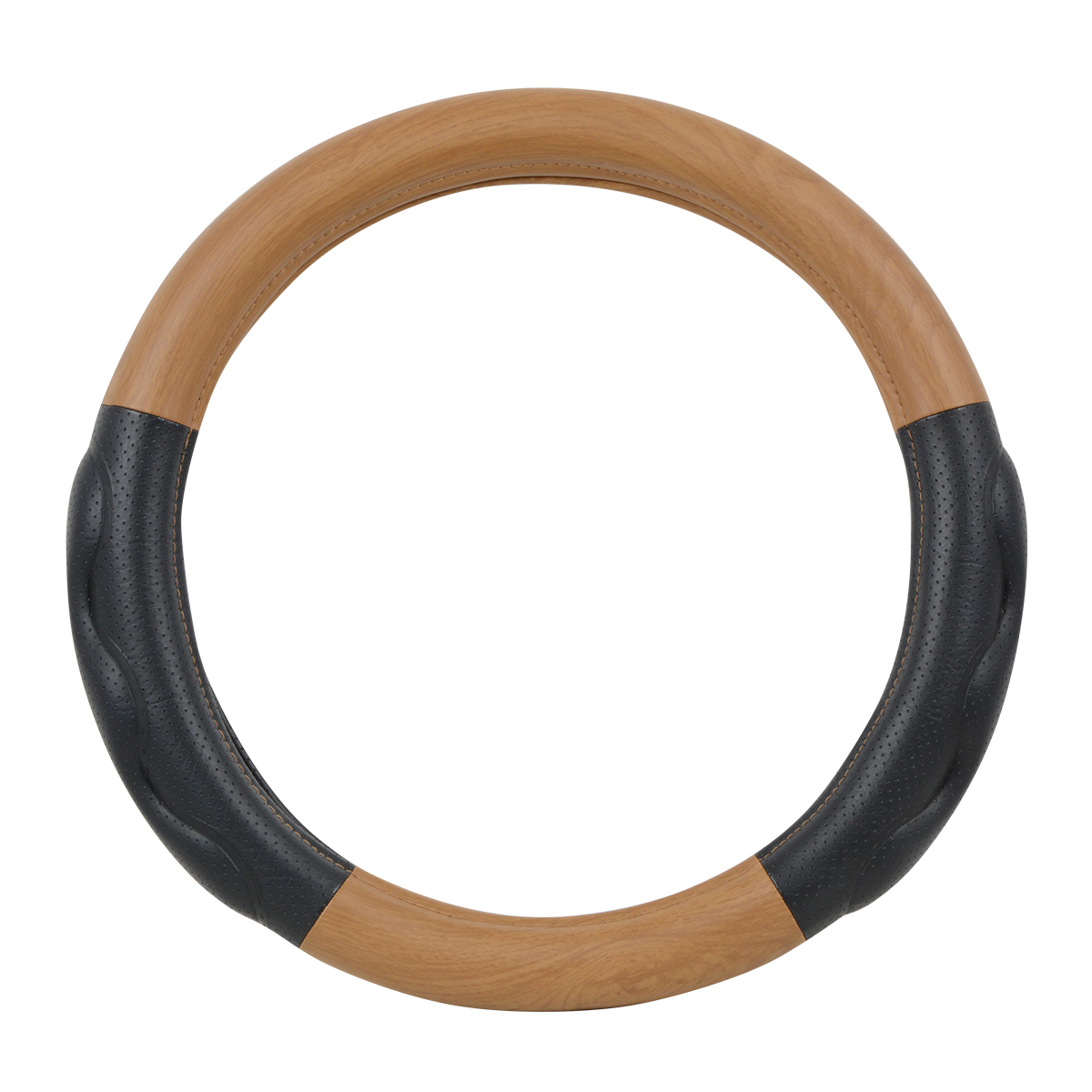 "54058 Heavy Duty 18"" Steering Wheel Cover in Deluxe+ Matte Natural Wood"