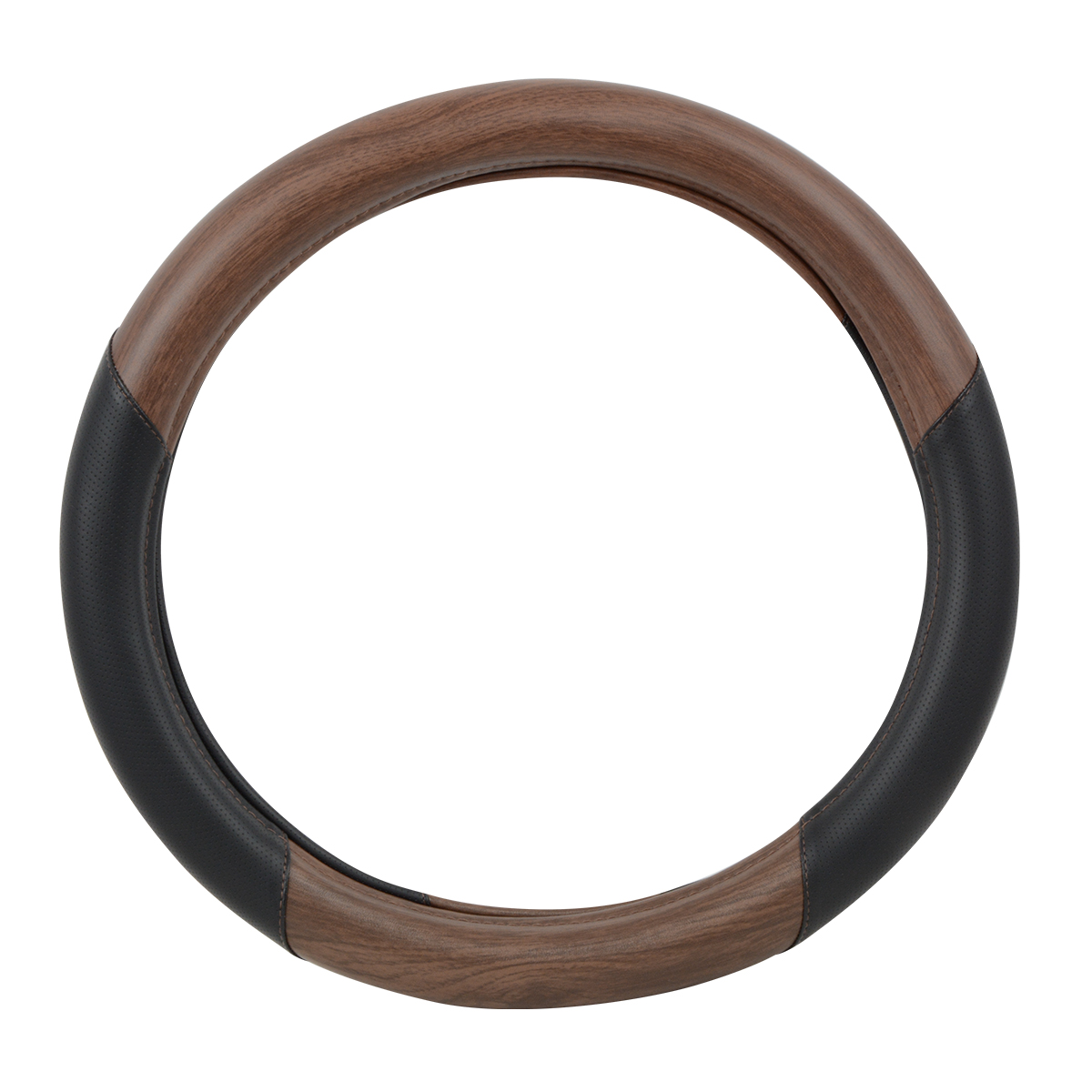 """54060 Heavy Duty 18"""" Steering Wheel Cover in Deluxe Matte Natural Wood"""