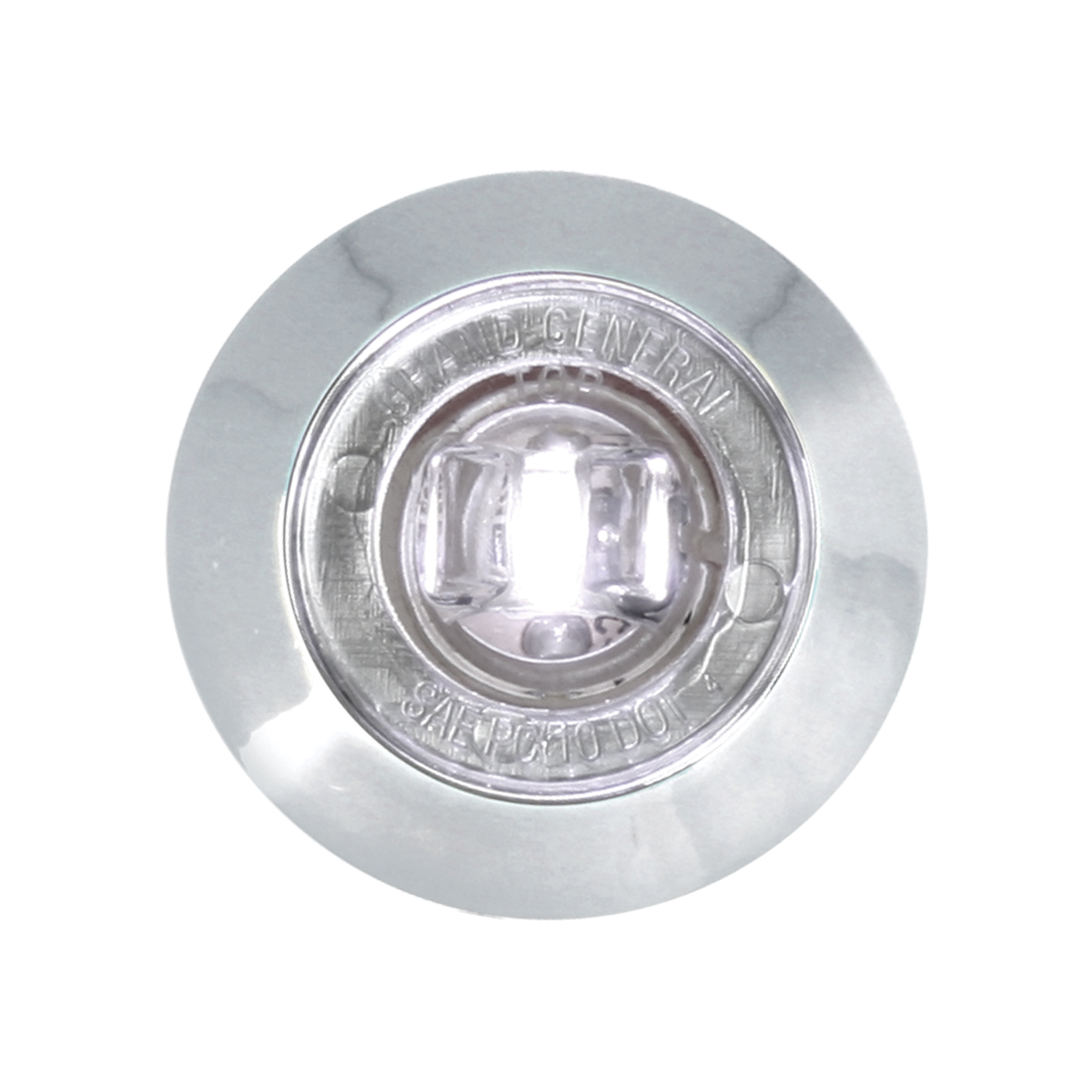 "75224 1-1/4"" Dia. Dual Function LED Light with Chrome Plastic Bezel and Nut"