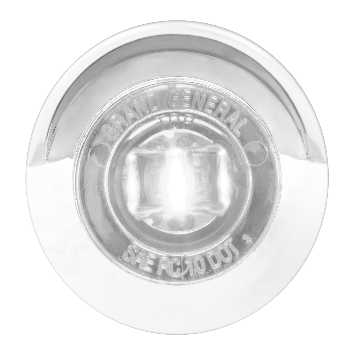 "75234 1-1/4"" Dia. Dual Function LED Light with Chrome Plastic Bezel w/ Visor and Nut"