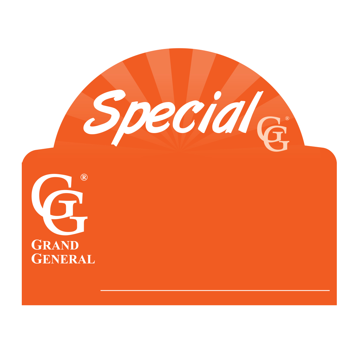 Front Window Tag for Special