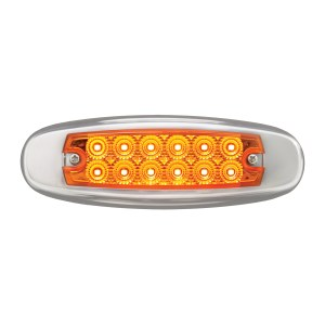 24V Ultra Thin Spyder LED Marker Light w/ Stainless Steel Bezel