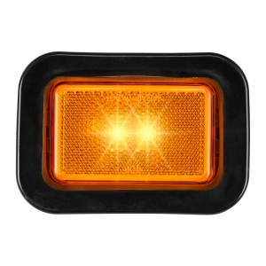 Rectangular Marker LED w/ Reflector Lens