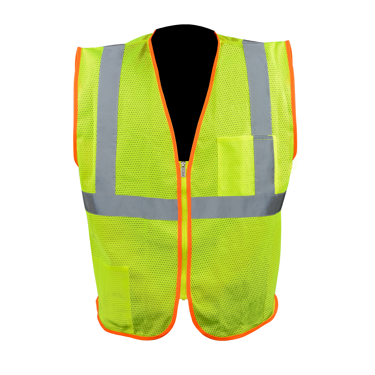 ANSI Class 2 High Visibility Safety Vest with Zipper