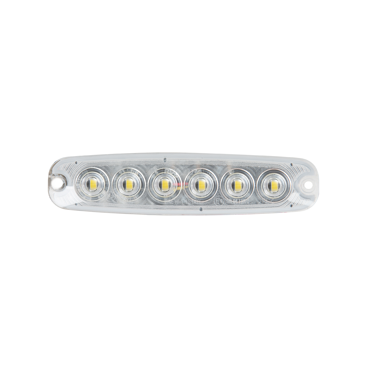 "5 ⅛"" Ultra Thin Strobe LED Light - Amber/Clear"