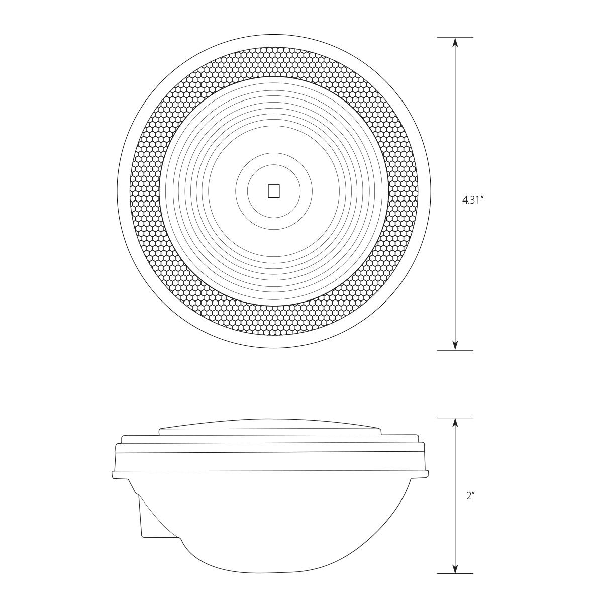 "4"" Single LED w/Reflective Ring Lens"