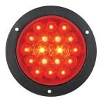 4″ Fleet LED Light with Black Flange Mount in 3 Wires