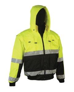 High Visibility Class 3 Water Repellent and Reversible 4 in 1 Bomber Jacket
