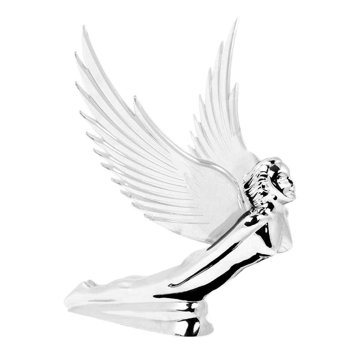 48056 WindRider Chrome Flying Goddess Hood Ornament