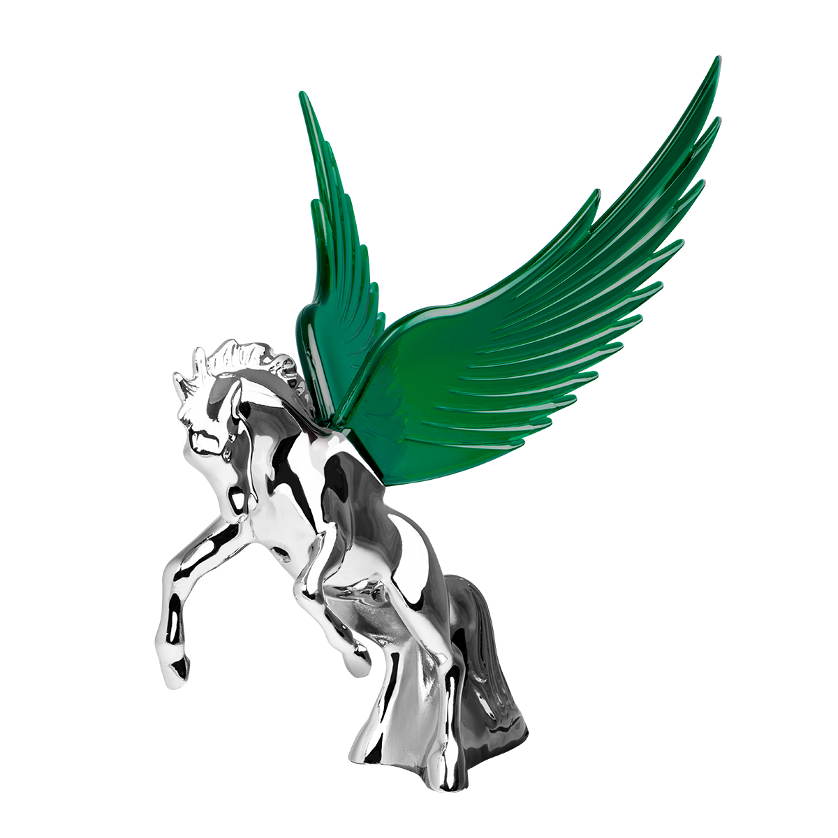 48392 WindRider Chrome Fighting Stallion Hood Ornament