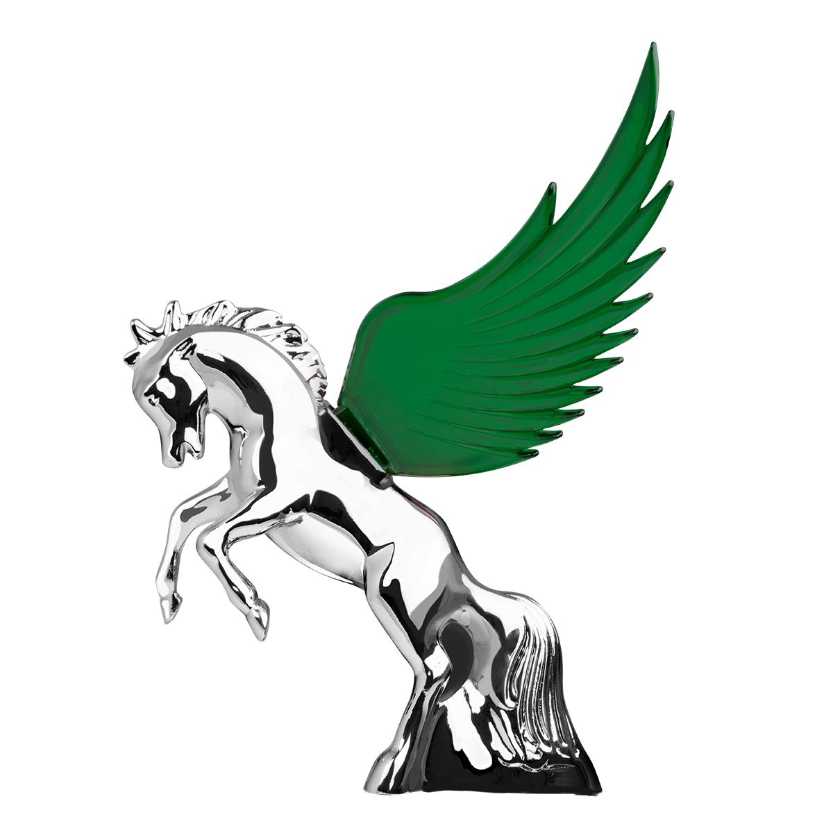 48392 WindRider Chrome Fighting Stallion Hood Ornament