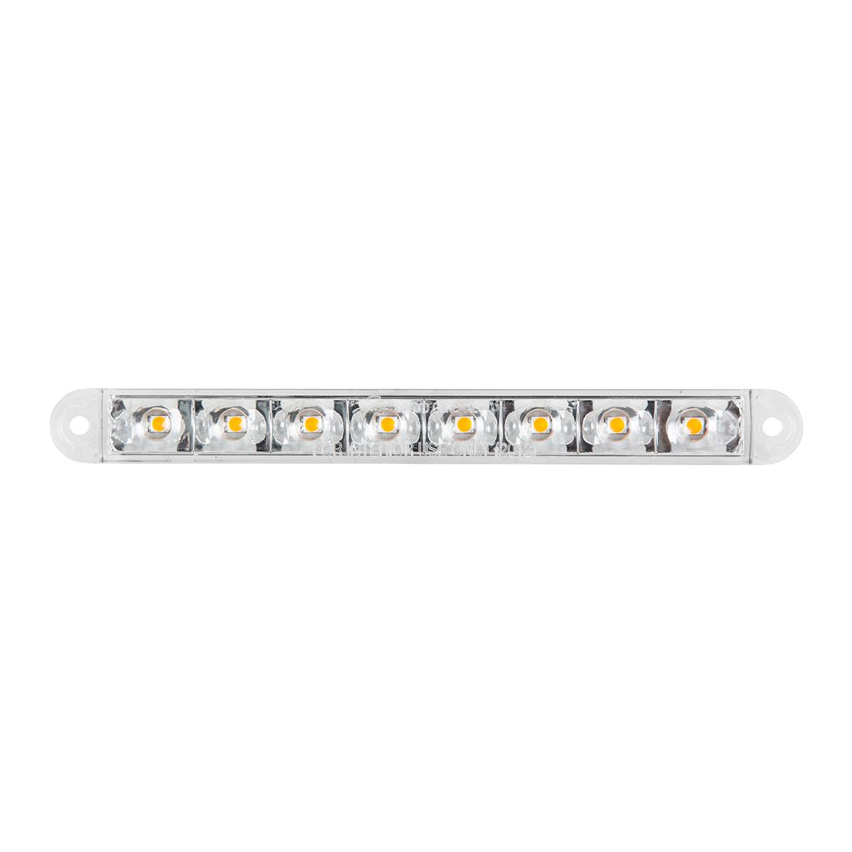 """6.5"""" Flush Mount Pearl Marker & Turn LED Light Bar in Clear Lens"""
