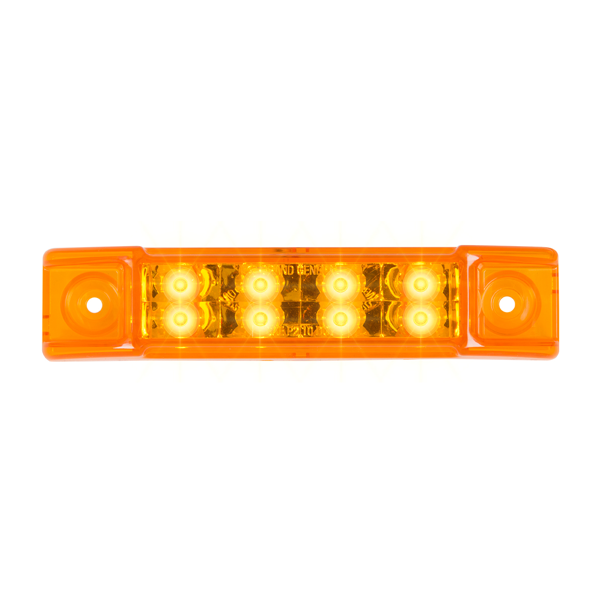 """75185 6"""" Rectangular Surface Mount Pearl Marker & Turn LED Light"""