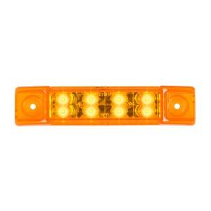 6″ Rectangular Surface Mount Pearl Marker & Turn LED Light