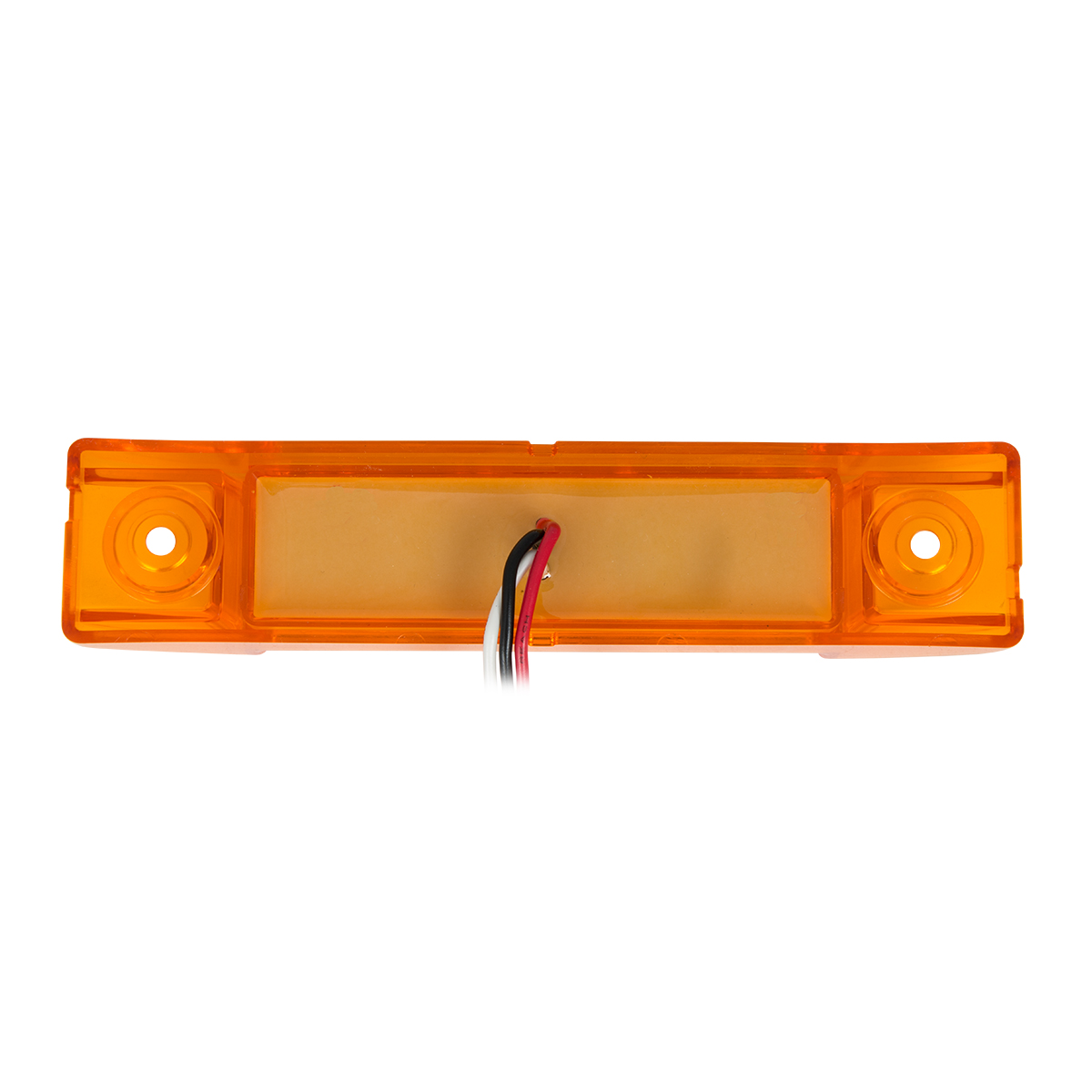 "75175 6"" Rectangular Surface Mount Pearl Marker & Turn LED Light with Chrome Plastic Bezel"