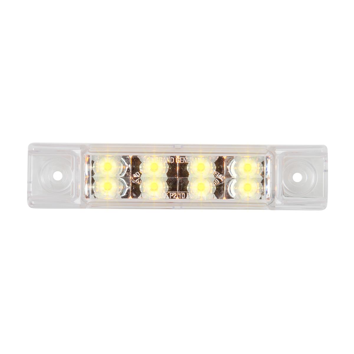 """75186 6"""" Rectangular Surface Mount Pearl Marker & Turn LED Light"""