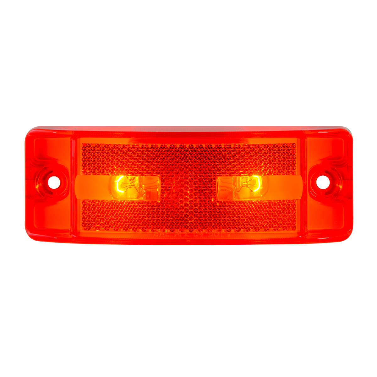 78286 Turtle Style Rectangular Sealed Marker Lights w/ Reflective Lens