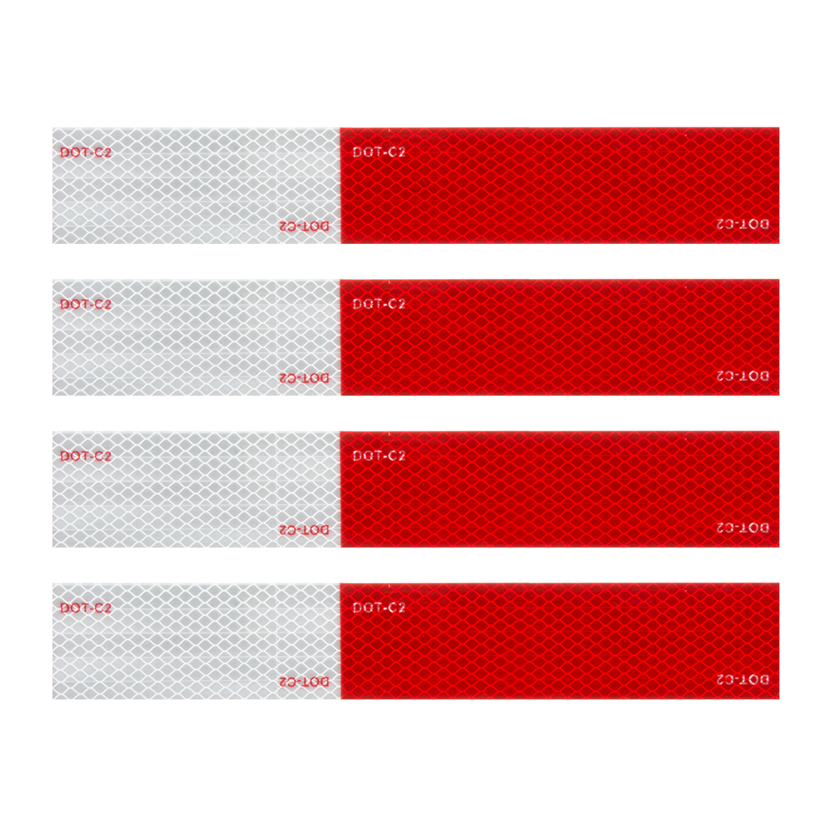 "92293 Premium Hi Viz DOT-C2 Conspicuity Tape in Red & White 18"" Strips"