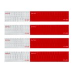 Premium Hi Viz DOT-C2 Conspicuity Tape in Red & White 18″ Strips