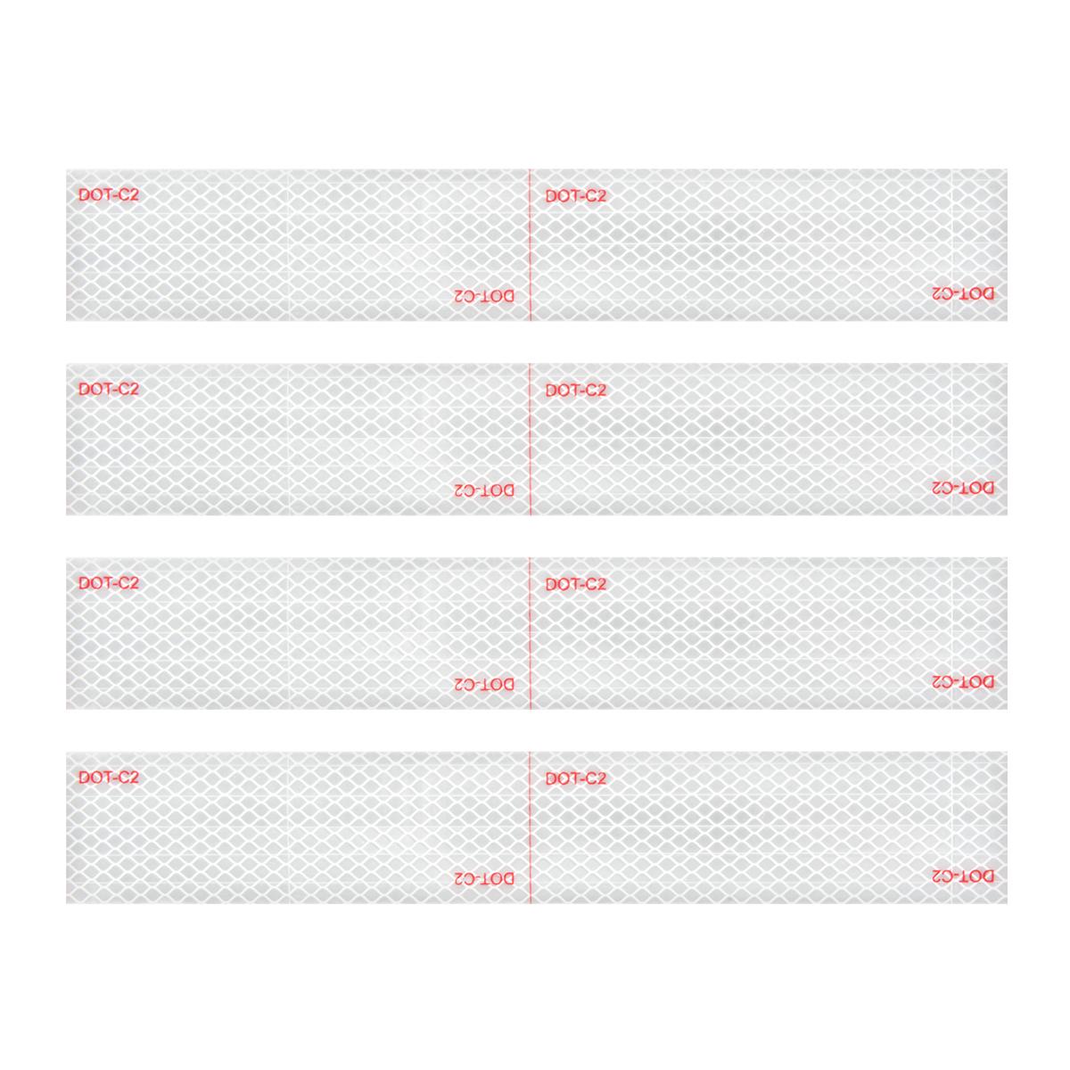 """92294 Premium Hi Viz DOT-C2 Conspicuity Tape in White 18"""" Strips"""